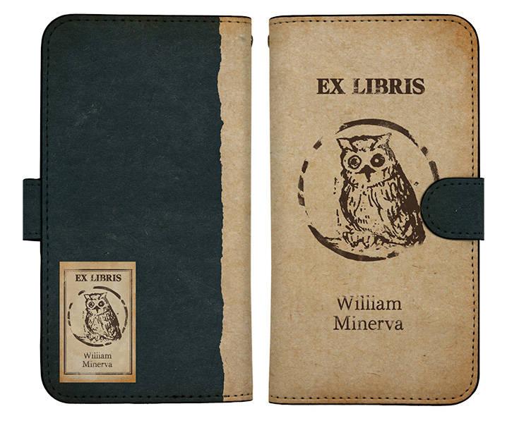 『約束のネバーランド』W・ミネルヴァのマーク 手帳型スマホケース 画像