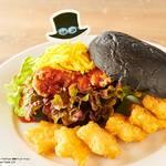 ワンピースタワー Cafe Mugiwara サボの竜爪拳ピリ辛竜田バーガー 画像
