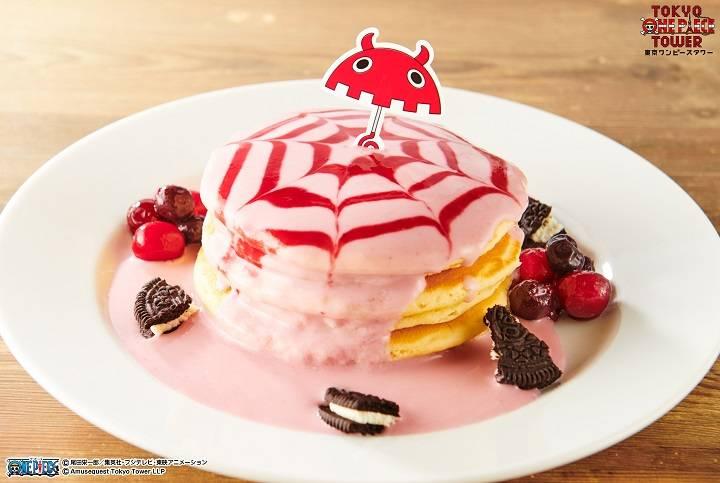 ワンピースタワー Cafe Mugiwara ペローナのベリーが弾けるフランボワーズヨーグルトパンケーキ 画像