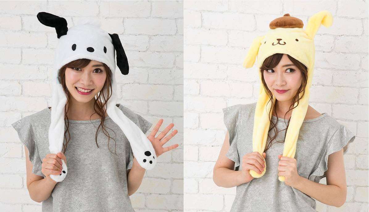 サンリオキャラクター 耳が動く帽子 画像1