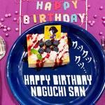 野口さんのバースデーケーキ ちびまる子ちゃん × TOWER RECORDS 画像