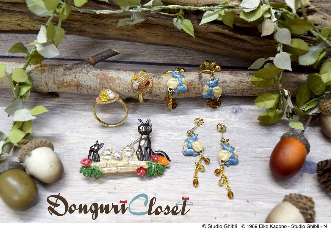 Donguri Closet Palnart Poc となりのトトロ 魔女の宅急便 アクセサリー 画像