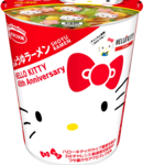 ハローキティ45周年お祝いカップ麺 しょうゆラーメン 画像