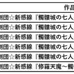 """劇団☆新感線『髑髏城の七人』""""花・鳥・風・月・極""""全5シーズン配信2"""