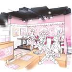 『ハローキティ』×「@ほぉ~むカフェ」4
