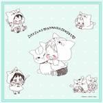 『月刊LaLa』3月号_『夏目友人帳』ニャンコ先生 ×『学園ベビーシッターズ』虎太郎2