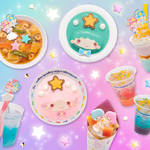 ブルー&ピンクの限定フード&スイーツメニューが登場(イメージ) キキ&ララ45周年  画像