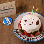 PEANUTS DINER 横浜店 スヌーピー バースデーケーキ 画像