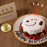 PEANUTS DINER 神戸店 スヌーピー バースデーケーキ 画像