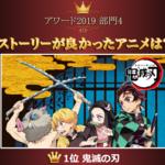 『鬼滅の刃』が驚異の3冠!! 2019年に1番○○だったアニメを発表 画像4