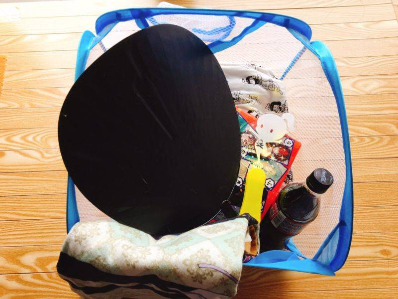 100均のランドリーバッグが荷物入れに最適 画像3