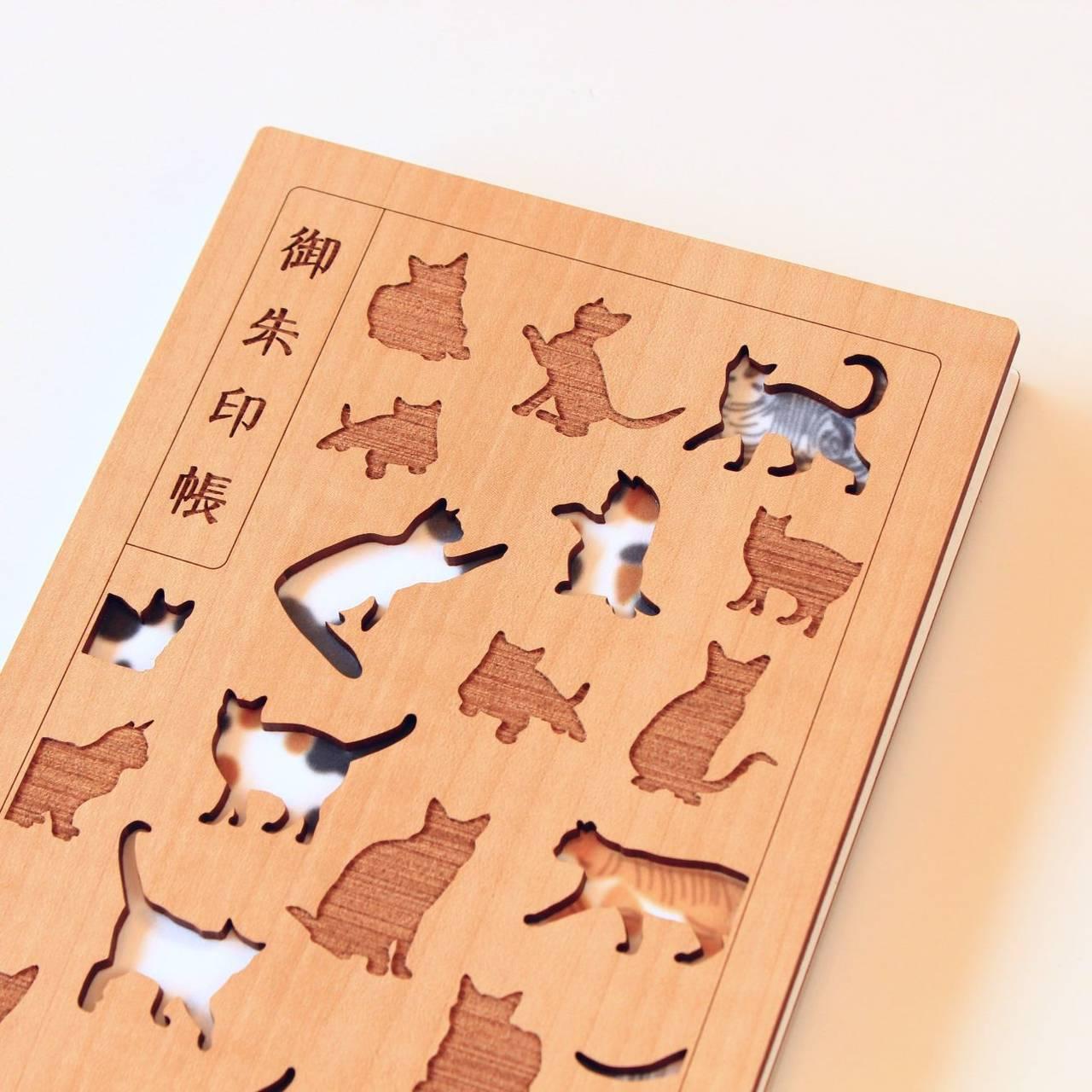 """""""お猫様モチーフ""""の御朱印帳"""