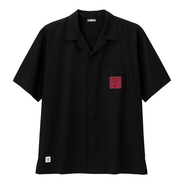 オープンカラーシャツ(5分袖)EVANGELION 2/¥2,490(税別)/ジーユー
