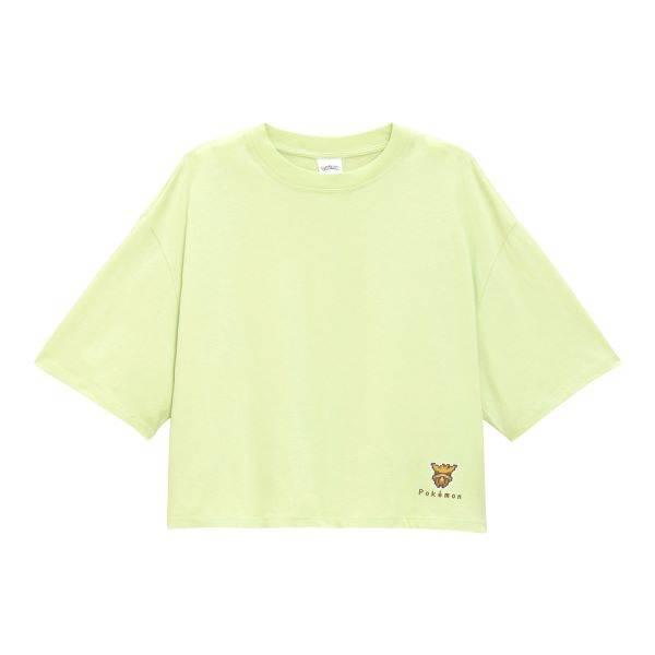 クロップドT(5分袖)POKEMON ICY 1+X/¥990+税/ジーユー
