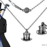 【ワンピース】サボ ハット ネックレス シルバー(ブラックコーティング)