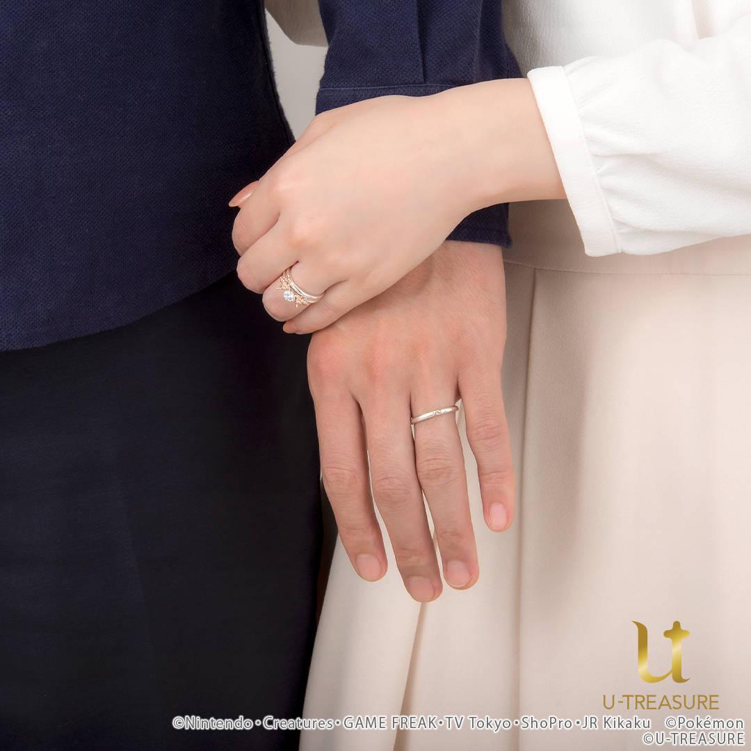 """【ポケモン】""""イーブイ""""の婚約指輪・結婚指輪"""