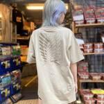 自由の翼Tシャツ (ベージュ)2