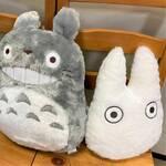『となりのトトロ』もふもふクッション登場! 大・中・小トトロの3種類♪
