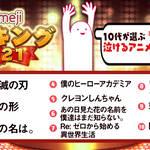 「心に響く、これぞ泣けるアニメ!TOP10」画像