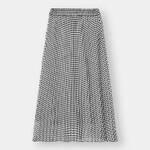 プリーツロングスカート(ギンガム)/¥1,490(税込)/ジーユー
