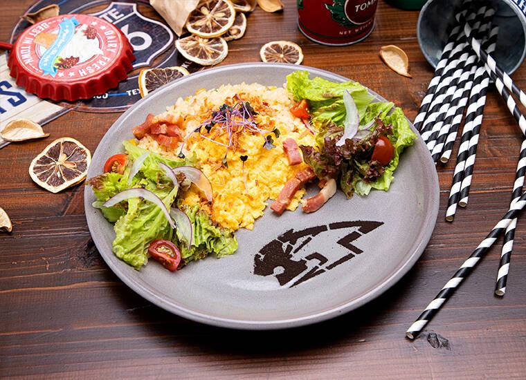 「TIGER BUNNY Cafe PLAYBACK!!」【ワイルドタイガー】サラダチャーハン