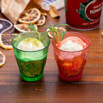 「TIGER BUNNY Cafe PLAYBACK!!」ミニグラスアイス ワイルドタイガー/バーナビー