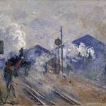 クロード・モネ《サン=ラザール駅の線路》1877年 油彩/カンヴァス