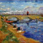 フィンセント・ファン・ゴッホ《ヴィゲラ運河にかかるグレーズ橋》1888年 油彩/カンヴァス