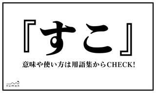 """すこ(すこ)とは、インターネット上で""""好き""""という意味で使用される言葉。"""